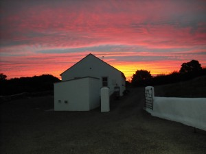Sunset, the Red Gates, Corofin, Co Clare
